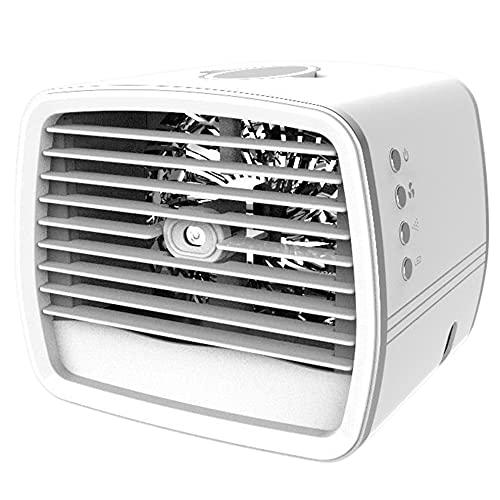 #N/D Refrigerador de aire de escritorio de tres velocidades humidificador de spray portátil LED refrigerador de aire USB carga copo de nieve enfriador de aire