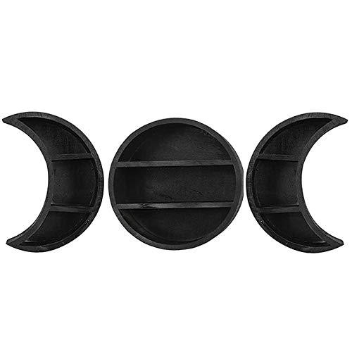 Estantería de pared de luna, estante de fases de luna, estantes de pared de fase de luna para decoración de pared, estantes luna y creciente