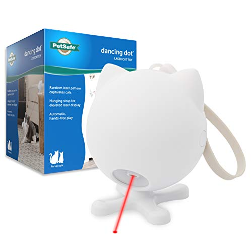 PetSafe Dancing Dot  Interactive Cat Laser Toy  2 Play Modes  Works Great on Elevated Surfaces