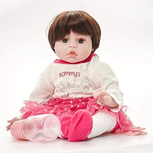 Hongge Reborn Baby Doll,Realistische Reborn Baby Kind Spielzeug Puppe Geschenk 55cm