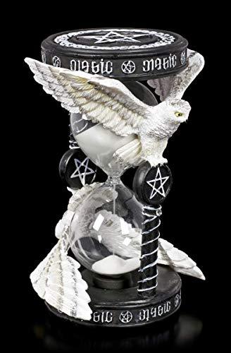 Unbekannt Eulen Sanduhr - Magical Owl Motiv von Anne Stokes   Fantasy Eier-Uhr, Tischuhr, Standuhr, Deko-Artikel, H 17,5 cm