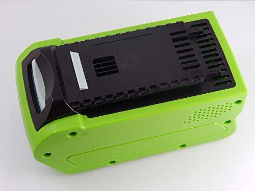 INTENSILO Li-Ion batterie 5000mAh 40V pour outil électronique Greenworks tronçonneuse 40cm brushless, compresseur, cultivateur comme 24252,29282.