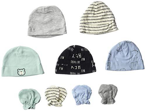 Gerber Baby Boy's 9-piece Cap and Mitten Bundle Baby Costume, Hello Bear, Newborn