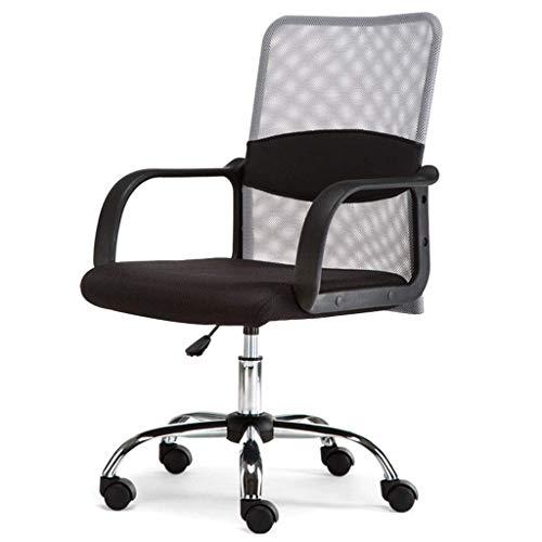 N/Z Éponge Native de Maille Respirante de Chaise de Bureau Ergonomique d'équipement Quotidien 360 degrés; Rotation silencieuse pour Les employés de Bureau (Gris)