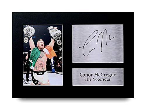 HWC Trading Conor Mcgregor A4 Sin Marco Regalo De Visualizacion De Fotos De Impresion De Imagen Impresa Autografo Firmado por Fans De UFC