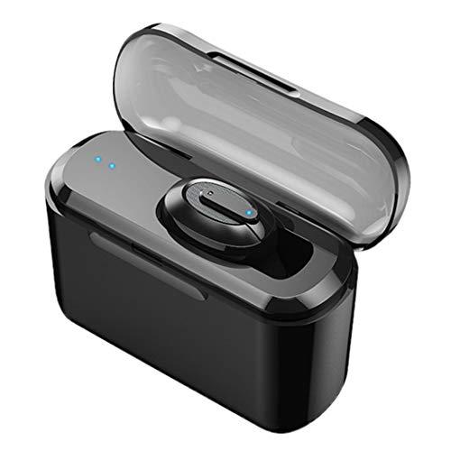 Neubula - Mini auriculares Bluetooth inalámbricos para deporte, invisibles, con compartimento de carga, compatible con la mayoría de smartphones y otros dispositivos Bluetooth