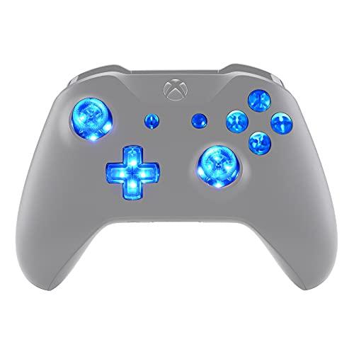 eXtremeRate Botones LED Multicolores para Mando Xbox One Botón de D-Pad Joysticks Vista Menú ABXY Acción Teclas (DTF) LED Kit para Controlador de Xbox One Standard Xbox One S X 7 Colores 9 Mod