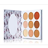 YOLANDEK Cream Contour & Concealer Makeup Kit, Contour Cream Palette Contouring Foundation Concealer Palette, Creamy Correcting Concealer with Mirror, Warm Shade