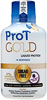 ProT GOLD - Berry Sugar Free Liquid Protein Shot - 16oz Bottle with 16 1oz Servings - Anti Aging Liquid Collagen. A Clinically Proven Nano Hydrolyzed Protein Used in Over 3000 Medical Facilities