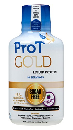 ProT GOLD Berry Sugar Free Liquid Protein Shot - 16oz Anti Aging. Proven to Boost Immunity. Formula Trusted by 3,500+ Medical Facilities for Complete Protein Nutrition and Proven 2X Faster Healing