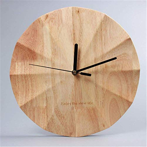 AIOJY Creativity Wall Clock Nordic Wall Clocks Simple Wood Clocks Watches, Household Round Creative Modern Fashion Watches