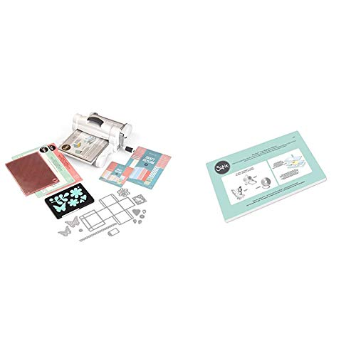 "Sizzix Big Shot Plus Starter Kit 660341 Manual Die Cutting & Embossing Machine for Arts & Crafts, Scrapbooking & Cardmaking, 9"" Opening & Magentic Platform for Big Shot Plus 661900, Multi Color"