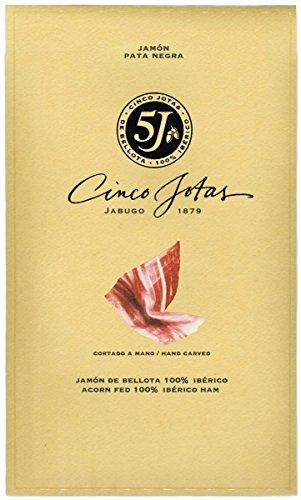 Sobres envasados al vacío Jamon 100% Ibérico de bellota 5 jotas 80gr