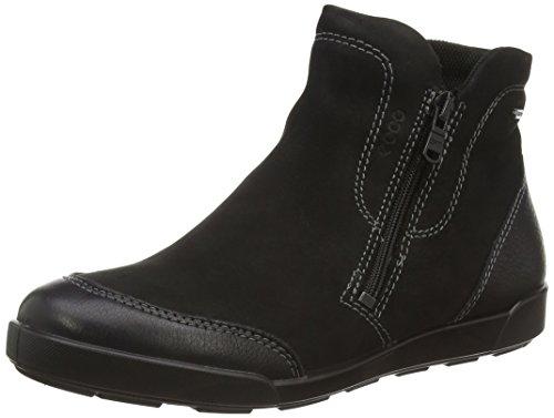 ECCO Damen Crisp II Chelsea Boots, Schwarz (Black/Black 51707), 36 EU