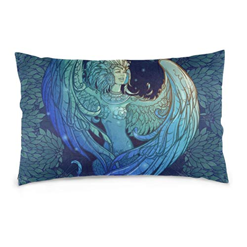 iksrgfvb Pillowcases 16X24inch Sirin - Half-Woman Half-Bird In Russian Myths And Fairy Tales Throw Pillow Covers Sofa Car Cushion Cover Home Decorative 40X60CM