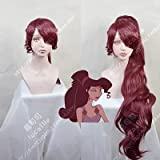 Princess Megara Cosplay Wig Hercules Meg Long Red Synthetic Hair For Adult + Wig Cap As The Picture