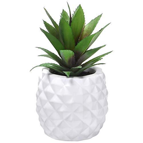 Sunm Boutique Artificial Succulent Potted Plants, Faux Pineapple Plants for...