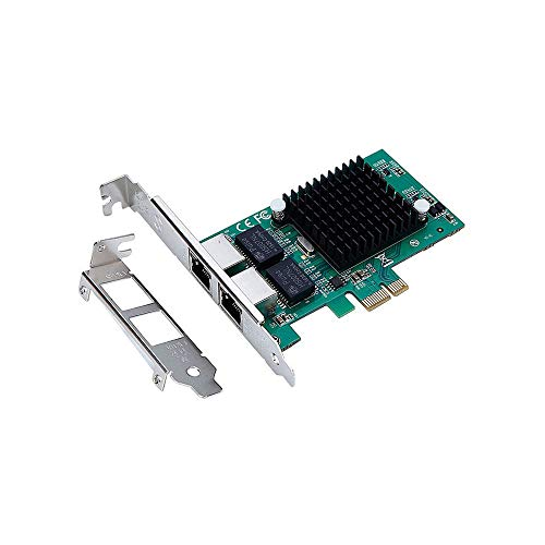 X-MEDIA Dual Port 10/100/1000Mbps Intel 82575EB Gigabit Ethernet PCI Express PCIe x1 Server Network Card/Network Adapter, Windows 10 & Linux Supported [XM-NA3821]