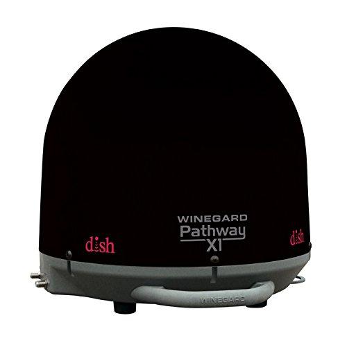 Winegard PA-2035 Pathway X1 Automatic Portable Truck Satellite TV Antenna for DISH (Trucking Satellite Antenna, Optional Mounts) - Black