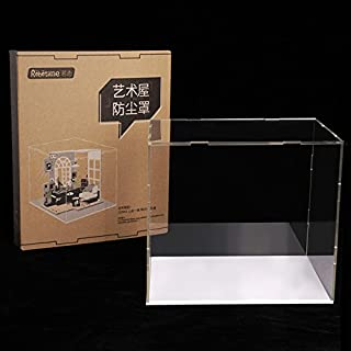 Rolife Dust Cover for Miniature Dollhouse, Transparent Acrylic Display Case Dust Proof Prevention (for DGM01-6)