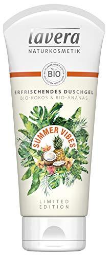 Lavera Summer Vibes Erfrischendes Duschgel - Bio-Kokos & Bio-Ananas, Vegan Bio Pflanzenwirkstoffe, Naturkosmetik (1 x 200 ml)