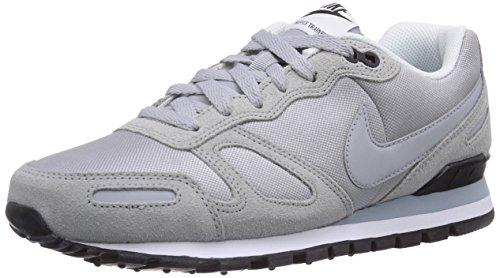 Nike Air Waffle Trainer 429628, Herren Sneaker, Grau (wolf Grey/black/white), 45
