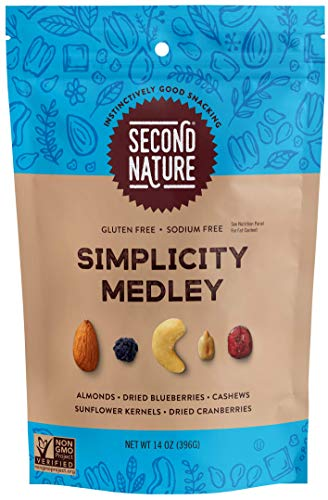 Second Nature Simplicity Medley Trail Mix - Snack Nut Blend, Gluten Free - 14 oz Resealable Standup Pouch