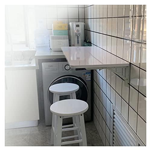 GHHZZQ Mesa Plegable de Pared Escritorios Flotantes para Espacios Reducidos Estante de Almacenamiento Banco de Trabajo de Cocina Fácil de Instalar y Usar (Color : White, Size : 120x30cm)