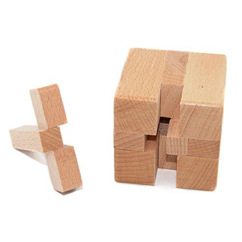 KINGOU Wooden Magic Cube Logic Puzzle Burr Puzzles Brain Teaser Intellectual Removing Assembling Toy