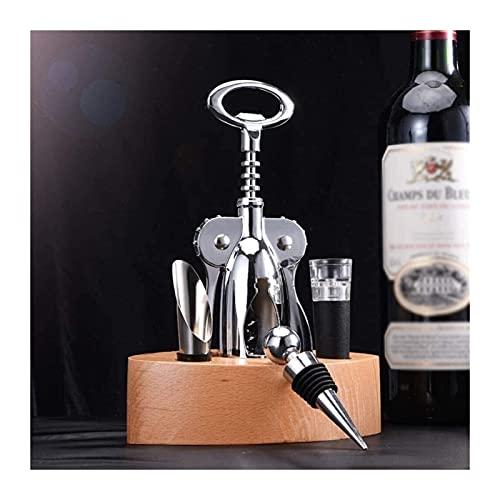GDYJP 5 Piezas Tinto Botella de Vino Abrezca ala ala Sacacorchos Botella Abrebotellas Abotaje Sacacorchos Sacacorchos Vino Connoisseur Herramientas Conjunto de Regalo - Accesorios de Acero Inoxidable