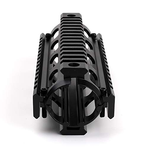 XBF-Scope, Caza Airsoft AR-15 M4 Handguard Carabina 6,7 ​​Pulgadas RIS Quad Rail 2 Picatinny Drop-In Montaje Guardamanos Accesorios de Caza (Color : Negro)