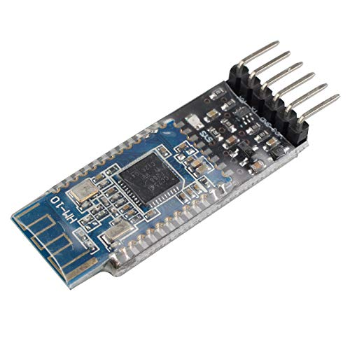 HALJIA HM-10 Bluetooth 4.0 UART Serial Module with 6 PIN Base Board with Logic Level Conversion Compatible with Arduino UNO R3 Mega 2560 Nano