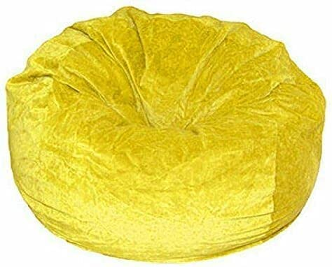 Without Al sold out. Beans Comfortable Washable Be super welcome Yellow Bean Velvet Bag Cove