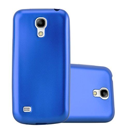 Cadorabo Custodia per Samsung Galaxy S4 in AZZURRO METALLICO - Morbida Cover Protettiva Sottile di Silicone TPU con Bordo Protezione - Ultra Slim Case Antiurto Gel Back Bumper Guscio