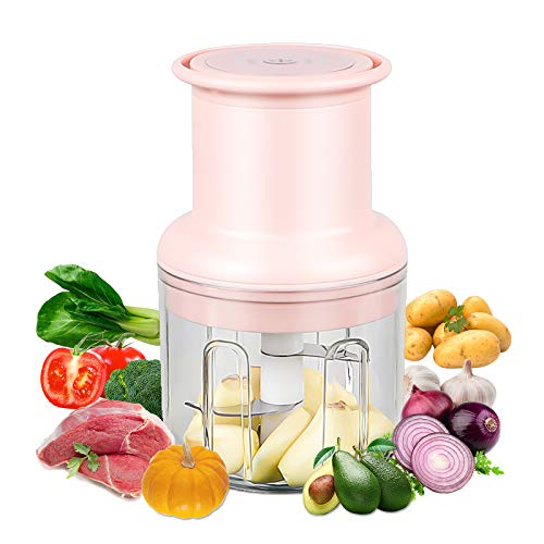 GUJIN Mini Electric Food Chopper, 45 W Multifunktions-Chopper (300 ml), Gemüsehacker / Obsthacker, Geeignet für Knoblauch / Gemüse / Fleisch usw.