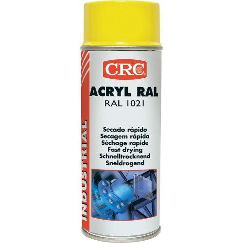 CRC - Pintura Acrílica De Secado Rápido Acryl Ral 1021 Amarillo 400 Ml