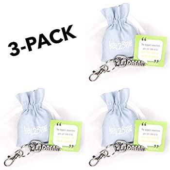 3-Pack key2Bme Dream Big Key - Cloud Keychain & Inspirational Quote - The Cute Cool Fun Unique Small Good Luck Charm Gift Under $10 for Giving Kid Teen Friend Girl Women Sister Coworker Graduation