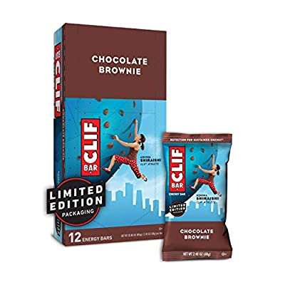 CLIF BARS - Energy Bars - Chocolate Brownie Made with Organic Oats - Plant Based Food - Vegetarian - Kosher (2.4 Ounce Protein Bars, 12 Count) Packaging May Vary
