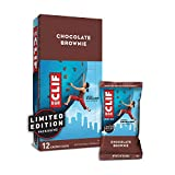 CLIF BARS - Energy Bars - Chocolate Brownie Made with Organic Oats Plant Based Food Vegetarian Kosher (2.4 Ounce Protein Bars, 12 Count) Packaging May Vary