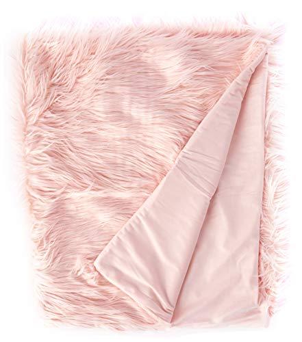 North End Decor Cobijas de Pelo sintético, Pelo Largo de Color Rosa, 50 x 60 cm
