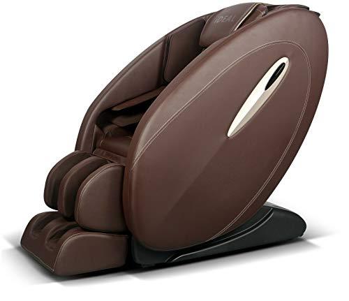 ideal massage Full Featured Shiatsu Chair with Built in Heat Zero Gravity Positioning Deep Tissue Massage - Dark Brown