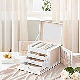 Immagine 2 songmics scatola portagioie cofanetto portagioielli