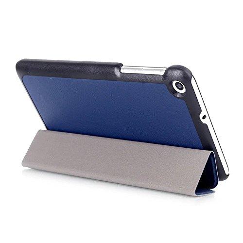 Kepuch Custer Huawei Mediapad T1 7.0 / T2 7.0 Hülle - Shell Schutzhülle PU Tasche Smart Case Cover für Huawei Mediapad T1 7.0 / T2 7.0 - Blau - 6