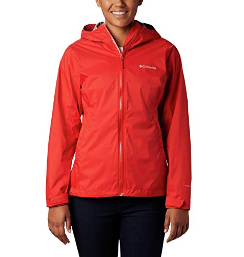 Columbia Women's Evapouration Jacket, Waterproof & Breathable, Bold Orange, X-Small
