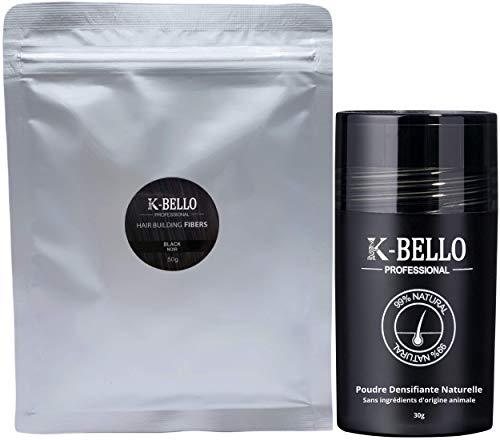 Poudre de cheveux densifiante Kératine Naturelle & Végan K-Bello – Masque calvitie, alopécie,...
