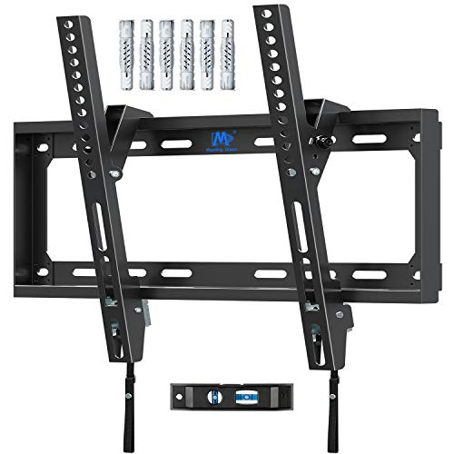 Mounting Dream Tilt TV Bracket Wall Mount, For Most 26-55 inch Flat and Curved TVs up to VESA 400x400mm and 40 KG, Ultra Slim Tilting TV Wall Bracket Fischer Wall Plug Included MD2268-MK-02