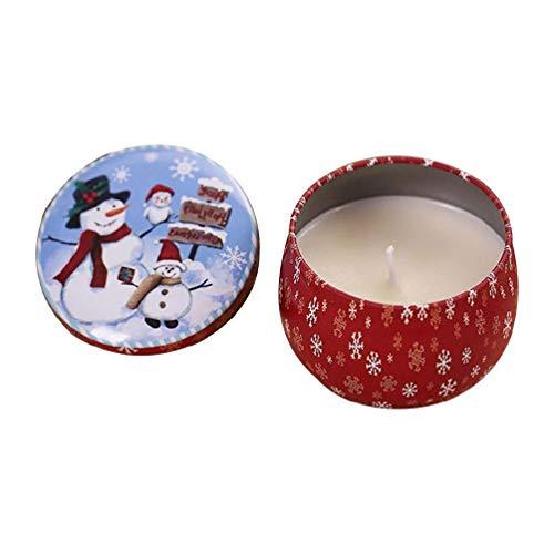 Vela de aromaterapia sin humo, cera de soja natural, portátil, para viajes, estaño, aromaterapia, vela de Navidad, decoración de casa al por mayor