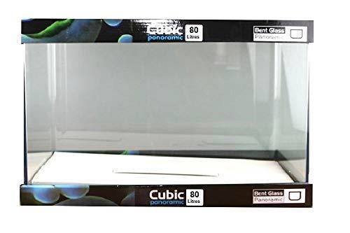 Blau Cubic Nano Rechteckbecken 80 Liter Floatglas 62x36x36 cm