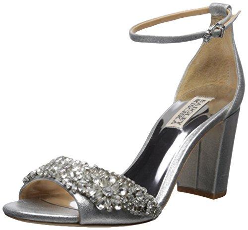 Badgley Mischka Damen Hines Sandalen mit Absatz, Silber, 40 EU