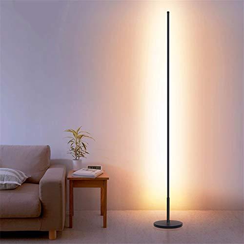 WRQ Moderna LED Lámpara Pie RGB Regulable 20W con Mando A Distancia, Ideal para Salón Y Dormitorio, 140Cm [Clase Eficiencia Energética A]